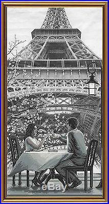 NOVA SLOBODA COUNTED CROSS STITCH KIT PARIS TOUR EIFFEL Tryptic 3 x 3060 cm