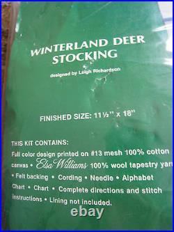 Needle Treasures Christmas Holiday Needlepoint Stocking Kit, WINTERLAND DEER, 6824