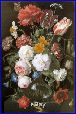 New Dutch Cross Stitch Kit Black Aida Rijksmuseum Flowers Thea Gouverneur 785