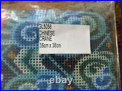 New Glorafilia Chinese Crane Tapestry Needlepoint Kit #gl5056