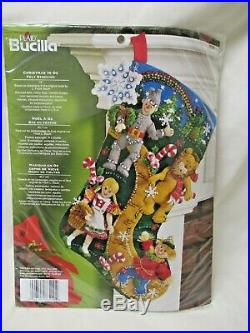 New Sealed Bucilla Plaid Felt Stocking Kit Wizard of Oz Christmas in Oz 86200