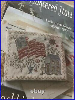 OOP! Blackbird Designs 2017 Ladies Prim Society Patriotic Kit CLUSTERED STARS