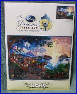 PINOCCHIO WISHES UPON A STAR cross stitch DISNEY DREAMS 16 x 12 NIP