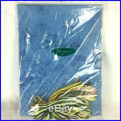 Paragons Crewel Embroidery Kit No 0623 Vintage 70s Floral Medley Blue NOS Sealed