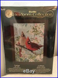 Plaid Bucilla Heirloom Collection Cardinals Hautman Counted Cross Stitch Kit