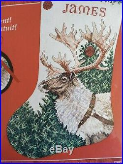 RARE Dasher Stocking counted cross stitch kit Needle Treasures Sealed
