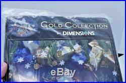 RARE! Dimensions Gold WOODLAND SANTA TREE SKIRT 8742 Christmas Cross Stitch Kit