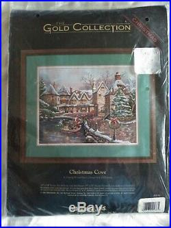 RARE Dimensions The Gold Collection Christmas Cove Counted Cross Stitch kit