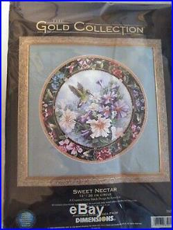 RARE Dimensions The Gold Collection Sweet Nectar counted cross stitch kit