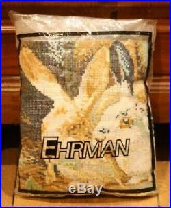 RARE EHRMAN Kaffe Fassett RABBITS NEEDLEPOINT TAPESTRY KIT VINTAGE