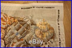 RARE EHRMAN Kaffe Fassett SHELLS ON SAND NEEDLEPOINT TAPESTRY KIT VINTAGE