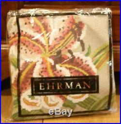 RARE EHRMAN Stripey Lily LILIAN DELEVORIAS NEEDLEPOINT TAPESTRY KIT RETIRED