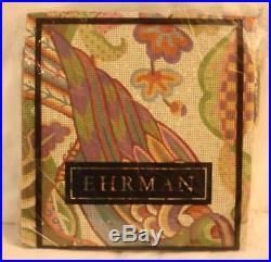 RARE EHRMAN needlepoint JANET HAIGH Tapestry CREWEL PARROT BIRD kit VINTAGE