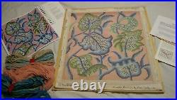 RARE Ehrman Tapestry Kaffe Fassett CREWEL LEAVES Needlepoint Kit started