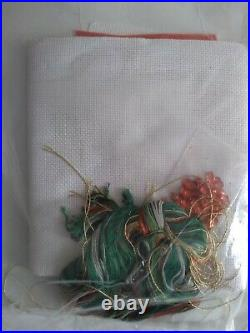 RARE Playful UNICORN counted cross stitch stocking KIT, Candamar SEALED