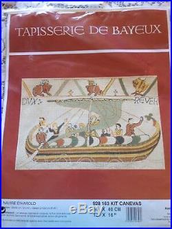 RARE Tapisserie de Bayeux Le Navire D'Harold needlepoint kit
