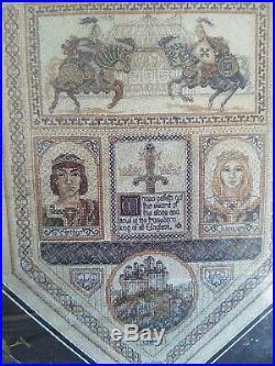 RARE Teresa Wentzler Camelot Sampler counted cross stitch kit SEALED