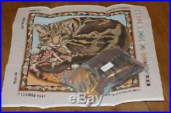 Rare Ehrman Kaffe Fassett Carpet Cat Tapestry Needlepoint Kit Retired Vintage