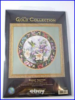 Rare SWEET NECTAR Dimensions Counted Cross Stitch Gold Collection Lena Liu Bird