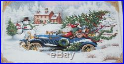 Roadster Santa Claus Dimensions Gold Collection Counted Cross Stitch Kit 8707