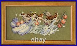SALE! COMPLETE XSTITCH KIT with AIDA SHAKESPEARE'S FAIRIES MD103 by Mirabilia