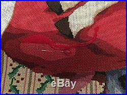 Sandra Gilmore Needlepoint Kit JOY IN GIVING Design 32 X 22 With Lots Of Floss