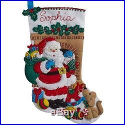 Santas Visit Bucilla Christmas Stocking Kit
