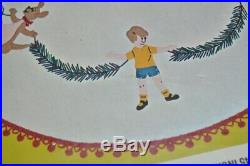 Sears Disney Winnie Pooh Family Christopher Robin Felt Embroidery Tree Skirt Kit