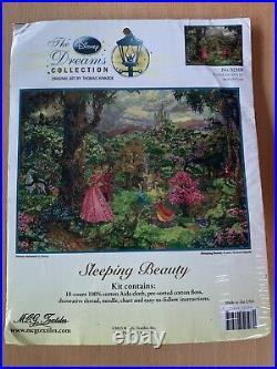 Sleeping Beauty Thomas Kinkade Disney Dreams Cross Stitch Kit 16x12