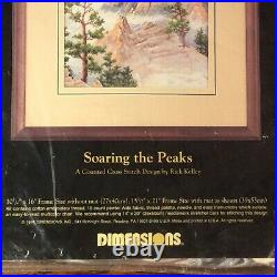 Soaring The Peaks Rick Kelley Cross Stitch Kit 3766 Eagle Dimensions Gold