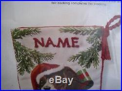 Sunset Crewel Stitchery Embroidery Holiday Stocking KIT, CHRISTMAS PUPPY, 2022,18