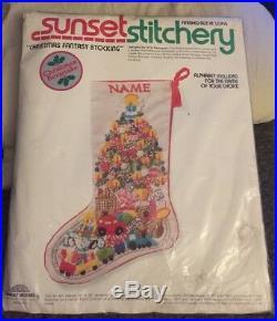 Sunset Stitchery Stocking Kit Christmas Fantasy Stocking #2025 18 Long