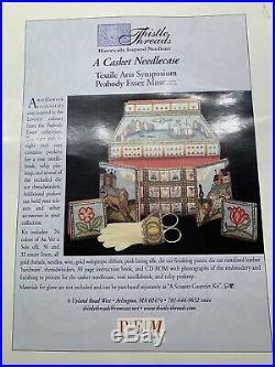 THISTLE THREADS a Casket Needlecase Peabody Essex Museum Needlework Case