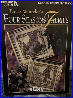 Teresa Wentzler Rare Cross Stitch Four Seasons Faeries And Carousel Horses