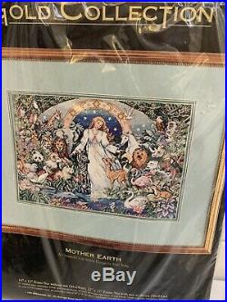 The Gold Collection Cross Stitch Kit Mother Earth 16 x 11 NEW Dimensions