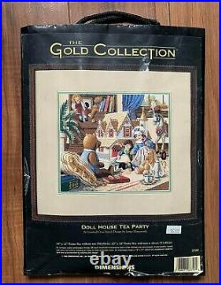 The Gold Collection Dimensions Cross Stitch 3799 Doll House Tea Party (OOP)