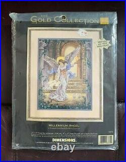 The Gold Collection Dimensions Cross Stitch 3870 Millennium Angel (1998/RARE)