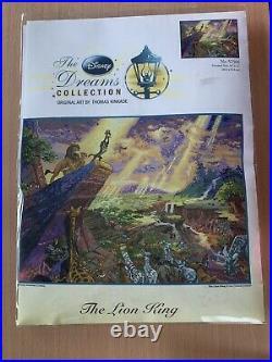 The Lion King Thomas Kinkade Disney Dreams Cross Stitch 16x12