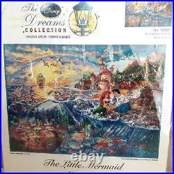 The Little Mermaid Disney Dreams Cross Stitch Kit 52507 16x12 Thomas Kinkade