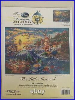 The Little Mermaid Thomas Kinkade Disney Dreams Cross Stitch Kit 16x12 NEW