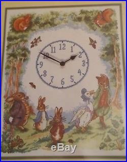 The World Of Beatrix Potter Peter Rabbit Clock Sampler Cross Stitch Kit, Anchor