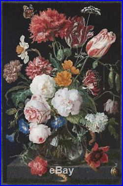 Thea Gouverneur Counted Cross Stitch Kit 41.5X27.5-Still Life WithFlowers On Aid