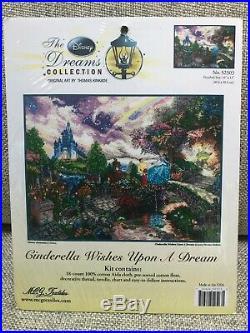Thomas Kinkade Cinderella Cross Stitch Kit 16x12 Disney Dreams New