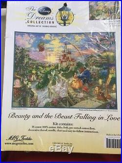 Thomas Kinkade Disney Beauty And The Beast Falling In Love Cross Stitch Kit