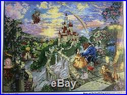 Thomas Kinkade Disney Dreams Beauty and the Beast Cross Stitch Kit 16x12 NIP