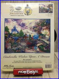 Thomas Kinkade Disney Dreams Cinderella Wishes Upon A Dream Cross Stitch Kit