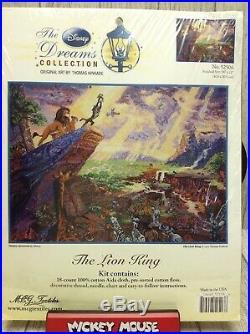 Thomas Kinkade Disney Dreams Collection The Lion King Cross Stitch Kit