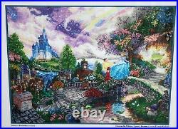 Thomas Kinkade Disney Dreams Cross Stitch Kit CINDERELLA WISHES UPON A DREAM