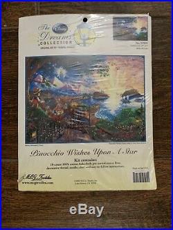 Thomas Kinkade Disney Dreams cross stitch kit Pinocchio