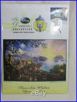 Thomas Kinkade PINOCCHIO WISHES UPON A STAR cross stitch DISNEY DREAMS 52501